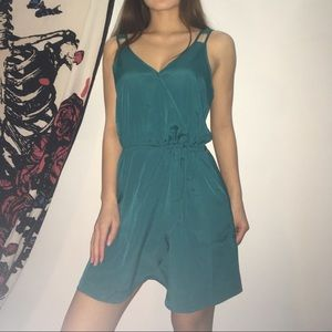 Contemporary teal cami dress